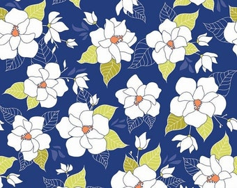 "Sale 15% Off Riley Blake Designs ""Lula Magnolia"" by The Quilted Fish. 100 Percent cotton/Lula Main Blue"