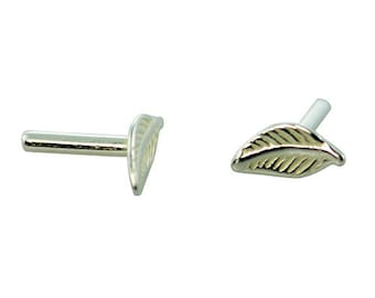 Silver Plated Brass Rivet Feather (Pkg of 10pcs)  (CCSP1204)