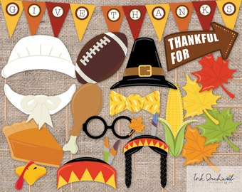 Instant Download Thanksgiving Photo Booth Props Printable Pack 15 items