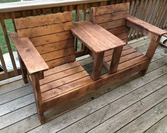 Rustic Porch Bench