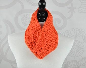 Scarf - Orange - Crochet Infinity