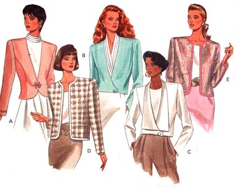 Butterick Sewing Pattern 4474 Misses' Jacket  Size:  12-14-16  Uncut