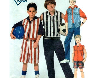 McCall's Sewing Pattern 7107 Boy's Vest, Pants, Shorts  Size:  CD  2-3-4  Uncut