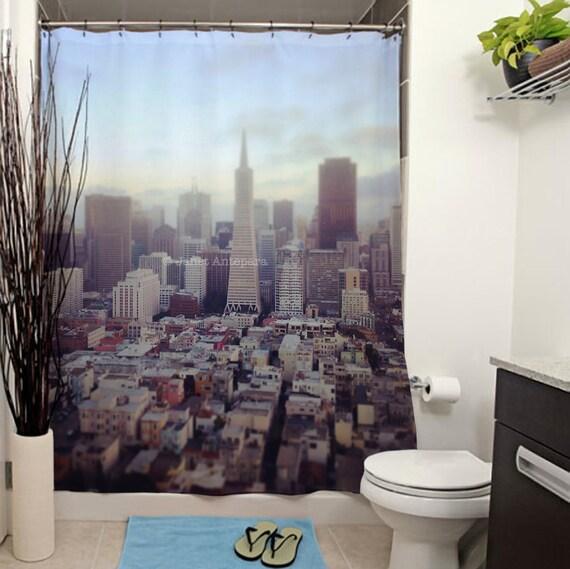 San Francisco Printed Shower Curtain Bathroom Decor Home