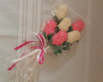 Half Dozen Chocolate Valentine Roses