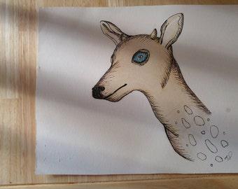 """Animal print """"Coffee Fawn"""""""