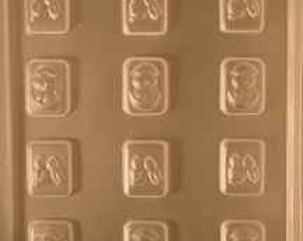 Bite size Easter Squares Chocolate Mold