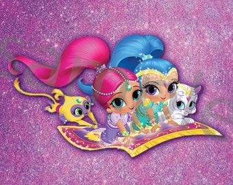 Shimmer and Shine Wall Art Bundle, 8x10, DIGITAL FILE, temporary price reduction!