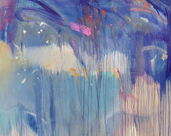 """Big Original oil painting -""""Coolness"""" - Fine art - abstract expressionism painting"""