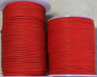 1.8mm  Red Leather- 100 meters