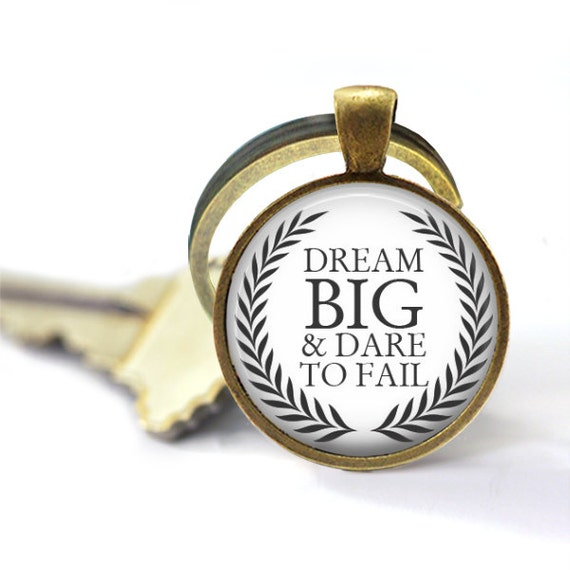 Dream Big And Dare To Fail, Dream Big, Key Chains For Women, Graduation Gift, Dream Big Little One, Gift For Daughter, World Globe, Keychain