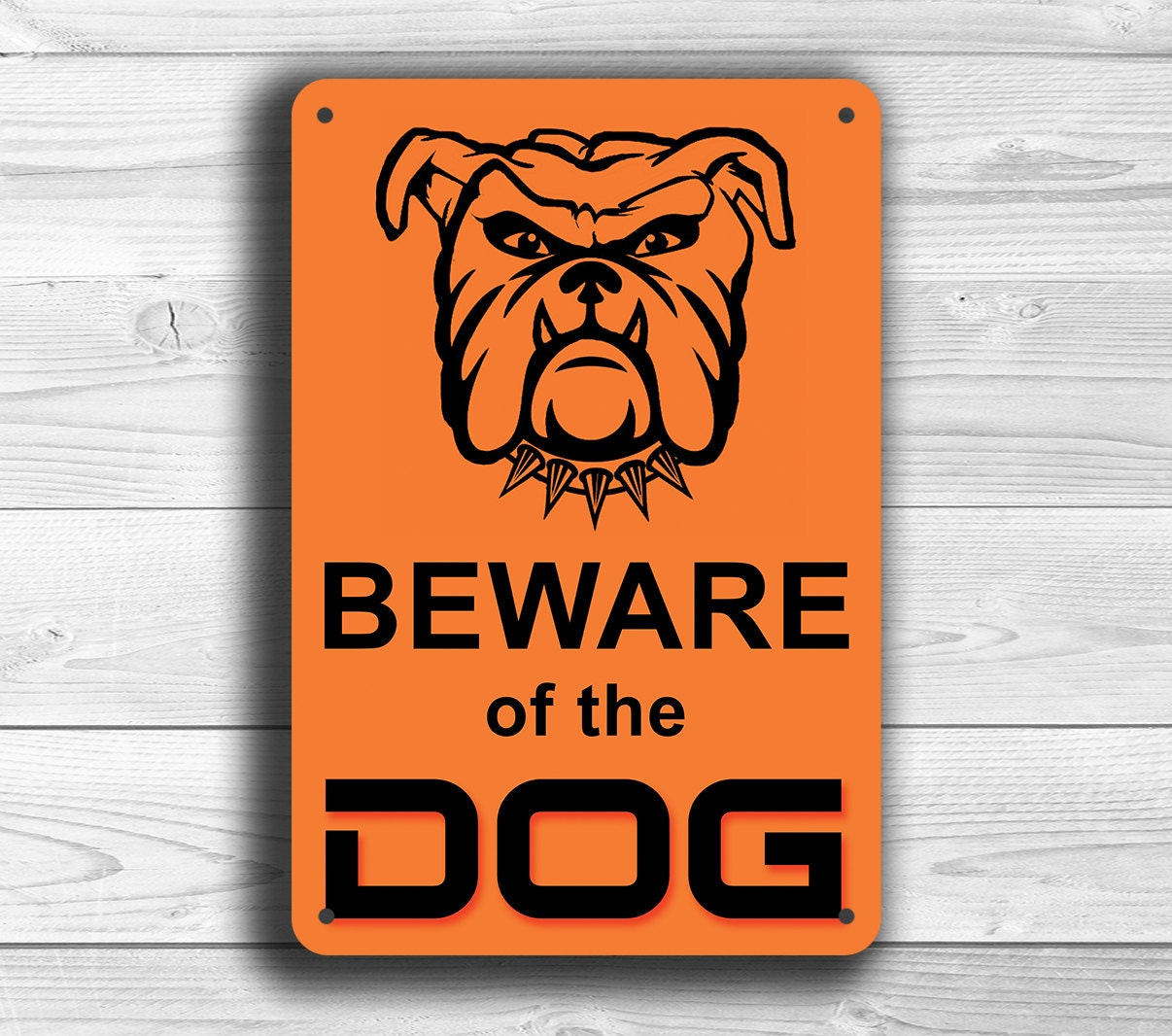 BEWARE of the DOG SIGN Beware of the dog signs Classic style