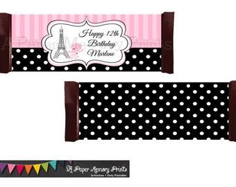 Paris Poodle Candy Wrapper - DIY Printable
