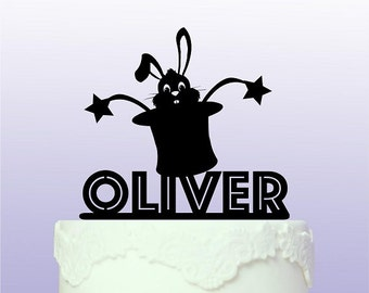 Personalised Magician's Hat Cake Topper