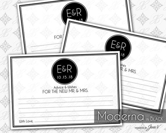 Printable Wedding Guest Book Card Template Editable Wedding