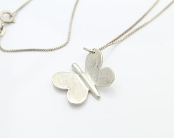 Sterling Silver Handmade Butterfly Necklace. [8031]
