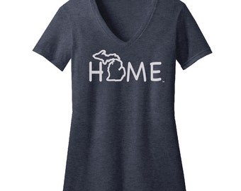 Michigan Home Fitted V-Neck