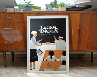 suicidal Tendencies | A2 screenprint | limited of 40
