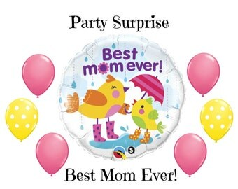 Best Mom Ever balloons Mothers Day Mom Grandma Birthday Balloons Kids Balloons for Mom