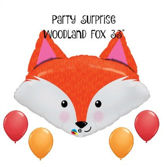 "Sale! Woodland Fox Balloon 33"" Woodland Animal Party"