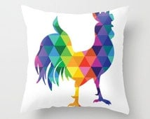 Throw Pillow  - Colors of the Rainbow - The Rockin' Rooster