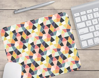 Geometric Mouse Pad, Retro Mouse Pad, Patterned Mouse Pad (0020)
