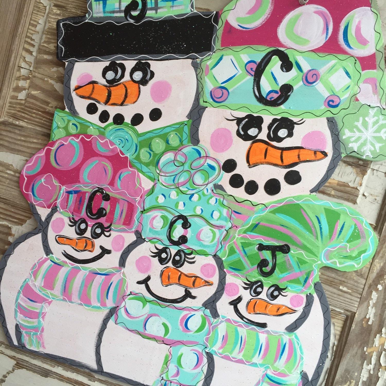 personalized door hanger snowman door hanger christmas door hanger christmas decorations winter