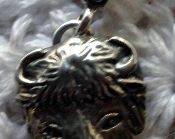 Casted Buffalo Head Pendant