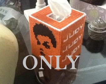 PATTERN Judy Garland Carnegie Hall Poster Tissue Box  for Plastic Canvas