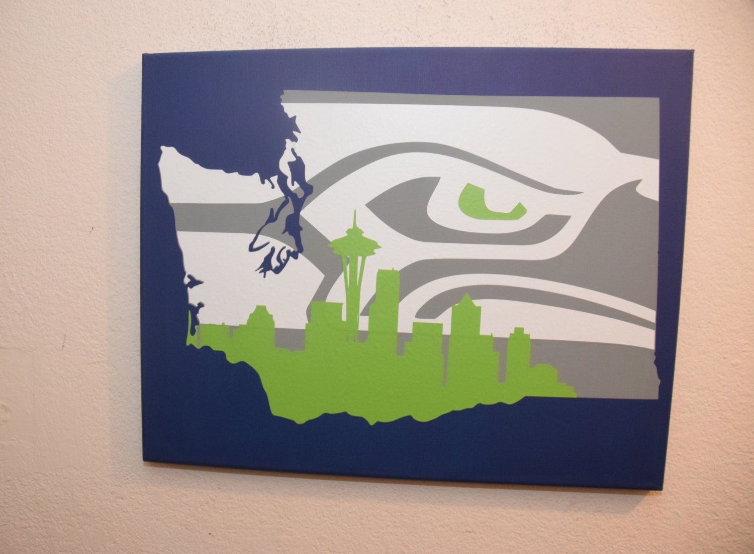 Seattle Wall Art washington state sign seattle seahawks sign unique seattle
