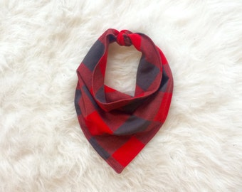 Dog Bandana - Buffalo Plaid Bandana - Dog Blanket Scarf