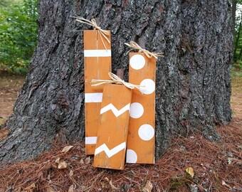 Distressed Wooden Pumpkins Set of 3, Rustic Pumpkins, Fall Decor, Thanksgiving Decor, Pumpkin Wood Block Set, Halloween Decor, Free Shipping
