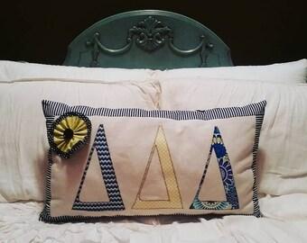 Ready to ship Delta Delta Delta Applique Pillow