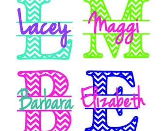 Yeti Monogram Decal, chevron decal, personalized decal, name decal