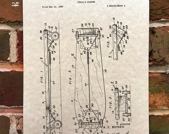 KillerBeeMoto: Duplicate of Original U.S. Patent Drawing For Early 1950 Skateboard Model