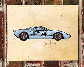 KillerBeeMoto: Limited Print Vintage American Engineered Le Mans Race Car 1 of 50