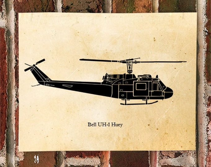 KillerBeeMoto: Limited Print Bell UH-1 Huey Helicopter Print 1 of 50