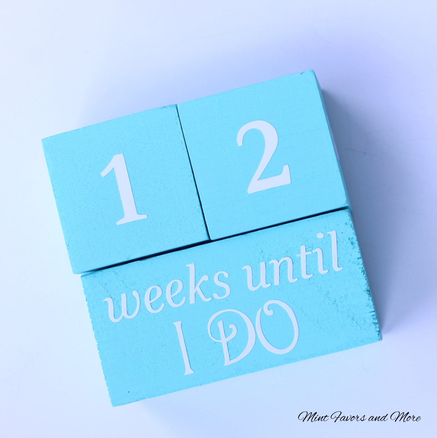 Wedding Countdown blocks bridal shower gifts engagement