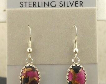 Kingman Mohave Pink Sterling Silver Earrings