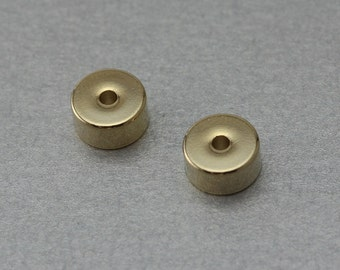 Rondell Brass Spacer . Polished Gold Plated . 10 Pieces / C4033G-010