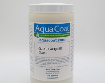 Aqua Coat Clear Lacquer, Water-Based Wood Finish, Gloss
