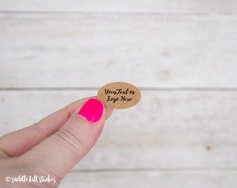 "Custom Stickers | Custom Labels | Set of 160 | 1 x 0.65"" Oval 
