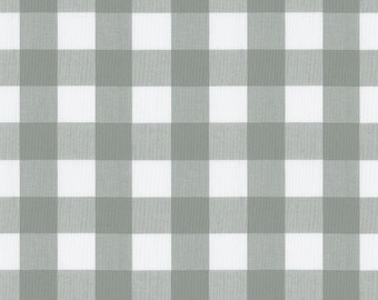 Large Gray Gingham Fabric - By The Yard - Girl / Boy / Gender Neutral