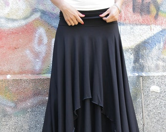Brown maxi skirt | Etsy
