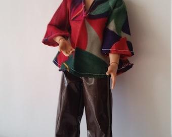 K 001 70's inspired shirt and vinyl pants.