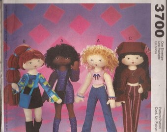"""M3700 14"""" Funky Doll with wardrobe."""