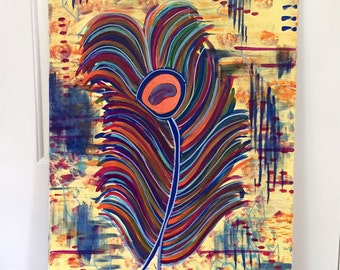 """Original Abstract Painting Titled """" Feather"""""""