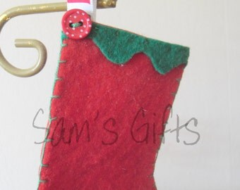 Red and Green Stocking hanging decoration