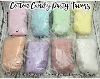 20 Cotton Candy Party Favors - No Labels, Individual, Birthday, Baby Shower, Class, Gender Reveal, Wedding, Event, School, Holiday