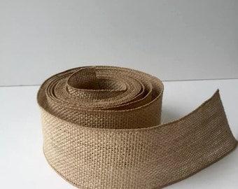Burlap Ribbon 10 YARDS (Wired) Mason Jar Wrap -Wedding Decor - Burlap Wreath - Rustic wedding - Rustic decor - Burlap bow - DIY IDEA